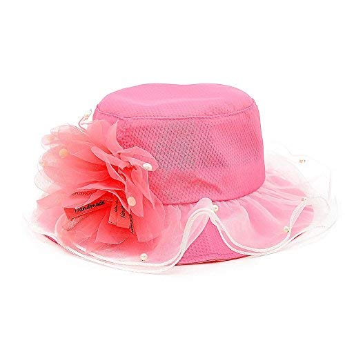 Image Unavailable. Image not available for. Color  Demana Girl´s Sun Hat  Flower Sweet Bowler Caps ... f44fec4f8b88