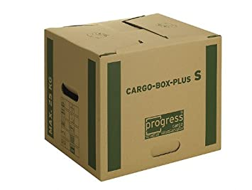 progressCARGO PC CB02.00 Premium Extra - Caja de embalaje, 2 ondulaciones, 400 x 320 x 320 mm, 10 unidades, color marrón: Amazon.es: Oficina y papelería