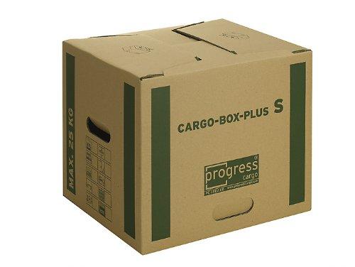 progressCARGO PC CB02.00 - Scatola in cartone per traslochi e trasporti Premium Extra, 2 carte per ondulazione, confezione da 10 pezzi, 400 x 320 x 320 mm, marrone progress packaging GmbH