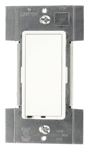 Leviton TTI10-1LZ, True Touch Preset Digital 1000W Incandescent Dimmer, Single Pole and 3-Way, White/Ivory/Light Almond