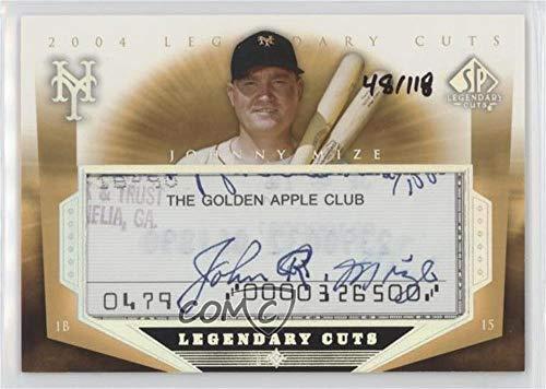 Johnny Mize #48/118 (Baseball Card) 2004 SP Legendary Cuts - Legendary Cuts Cut Autographs #MI