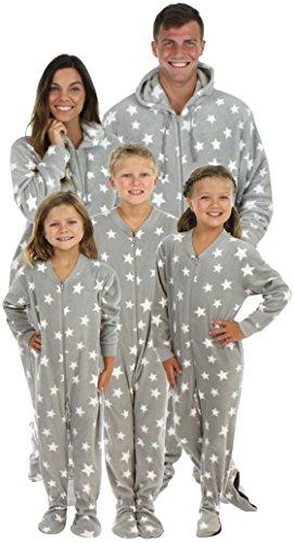 3ef90dd92 SleepytimePjs Family Matching Grey Snowflake Onesie PJS Footed ...
