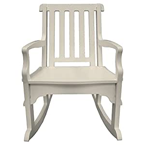 Poly Concepts Outdoor Garden Rocker with Slat Back