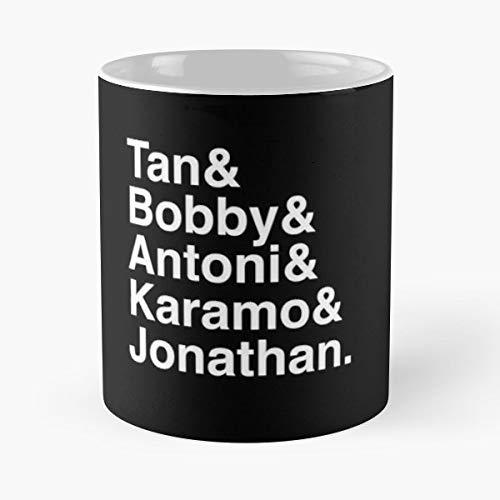 Best 11 oz Kaffee-Becher Queer Eye Tan Bobby Antoni Karamo Jonathan Jvn Helvetica Type Tasse Kaffee Motive