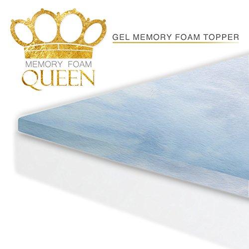 memory foam queen cool gel mattress topper queen size for better sleep and extra comfort 60 night sleep trial made in usa mattress pad
