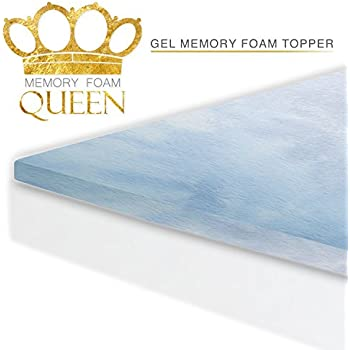 Amazon Com Memory Foam Queen Cool Gel Mattress Topper