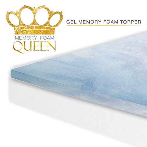 Memory Foam Cool Gel Mattress Topper ( King Size ). For Better Sleep and Extra Comfort. 60 Night Sleep Trial. Made In USA. Mattress Pad Perfect for Improving Existing Mattresses by Memory Foam Queen