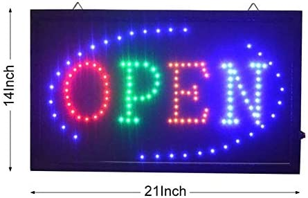 Perfect Large Animated LED Neon Business Open Sign w.Motion
