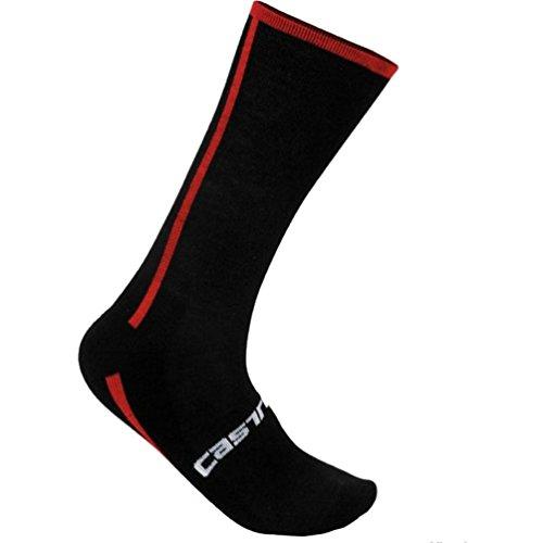 DARK STEEL BLUE One Pair Castelli Rosso Corsa 13 cm Tall Cuff Cycling Socks