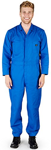 NATURAL WORKWEAR Mens Long Sleeve Basic Blended Coverall, Royal 38103-Medium -