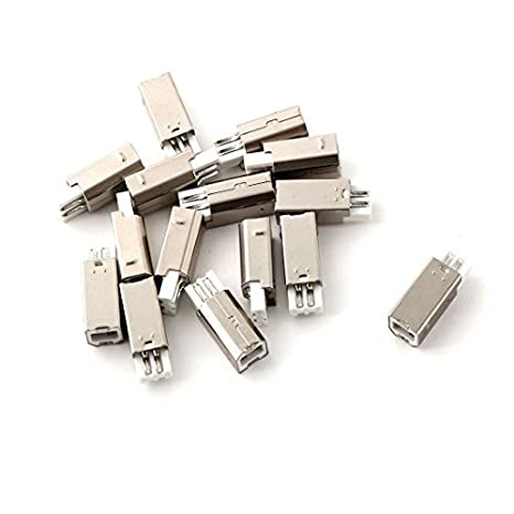 Amazon.com: eDealMax Metal Plástico USB tipo B 15pcs ...