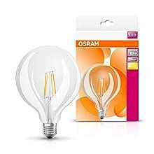 Osram, Bombilla LED Retrofit, transparente, E27, 7W Equivalente 60W, 220-240V, Luz blanca cálida 2700K 1 unidad