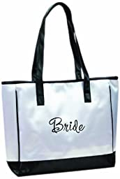 Lillian Rose Bride Tote, 13-Inch by 14-Inch, White
