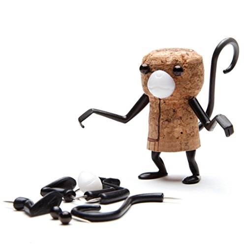 Unique Monkey Gift (Monkey Business Wine Accessories - Corkers animals Monkey - Character Pins For Wine Cork - Unique Packaging Hangs On Wine Bottle by)