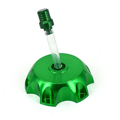 Klx110 Billet (Lumix GC 49mm Billet CNC Gas Fuel Cap Green For 50cc 110cc Honda CRF50 XR50 & KawasakI KLX110 Dirt Pit Bikes)