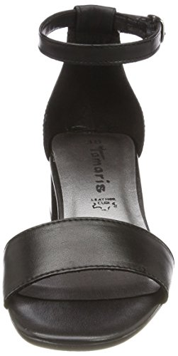 Leather alla Black Sandali Tamaris Donna Cinturino 28394 Nero con Caviglia wqwWUfgzI