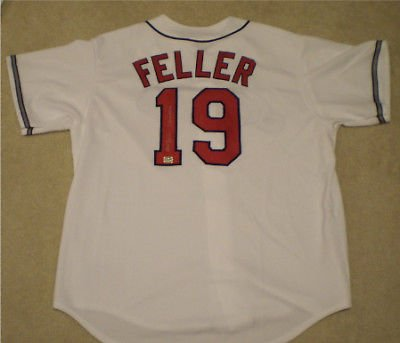 Bob Feller Autographed Signed Cleveland Indians #19 Jersey with '