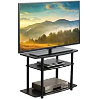 Furevol Arau 3-Tier TV Stand for TV up to 40 Inch, Mocha Espresso