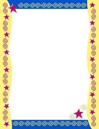 Masterpiece Studios Stationery - Masterpiece Red Stars & Swirls Letterhead - 8.5 x 11 - 100 Sheets by Masterpiece Studios