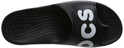 204465 Diapositivas Sandalias Negro Adulto Crocs Black White Unisex UzAFqx8fw