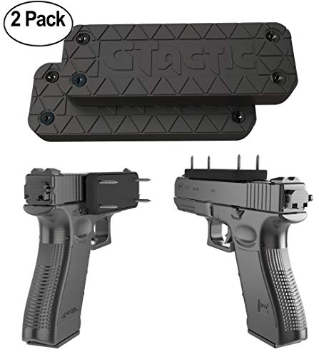 Buy 2 Pack Magnetic Gun Mount w/ Adhesive | Rubber Coated 43 Lbs Rated Gun Magnet Mount & Holster | ...