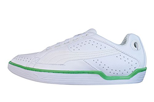 Puma Kite PL Mens Leder Schuhe Sneaker / Schuh - weiß