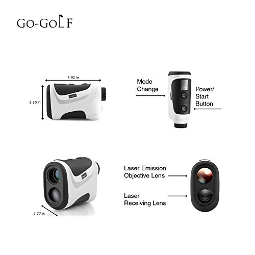 Golf Rangefinder | Laser Range Finder With Pin Sensor & Pulse Tech | Easy To Use, Compact, Accurate & Clear Reading | Golf Binoculars Yardage Rangefinder by Go-Golf (Image #3)