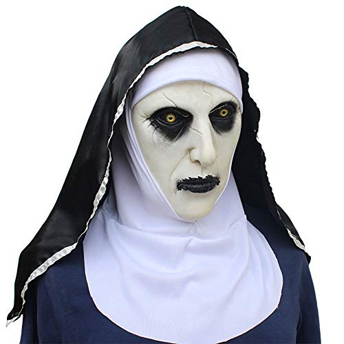 \Halloween Ghost Festival Horror Nun mask Surprise Female