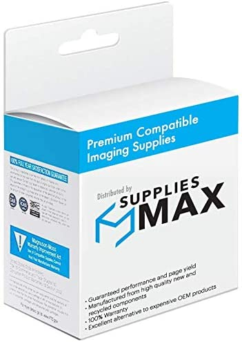 SuppliesMAX Compatible Replacement for CIG116268 Pigment Black Inkjet 650 Page Yield 0628B001 Equivalent to Canon PGI-5BK