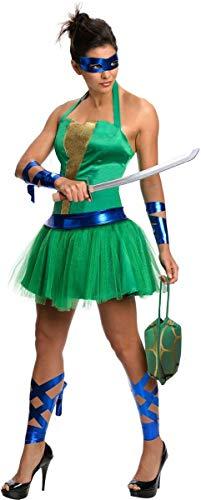 Secret Wishes  Costume Teenage Mutant Ninja Turtles Leonardo Adult Female, Green, Large ()
