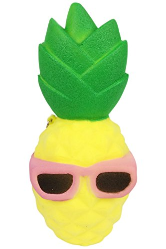 POWEE Soft Squishies Slow Rising Kawaii Scented Cool Sunglasses Pineapple Toy For Kids or Stress Relief - Pineapple Sunglasses With