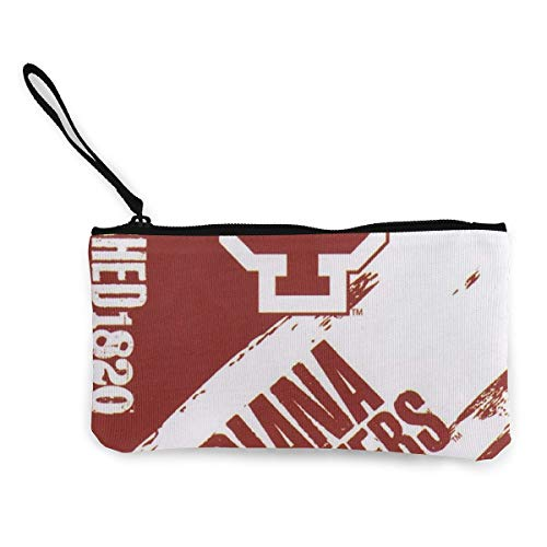 Indiana Hoosiers Womens Canvas Coin Purse Mini Change Wallet Pouch-Card Holder Phone Wallet Storage Bag,Pencil Pen - Hoosiers Indiana Purse