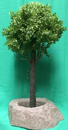 Artificial-UV-Rated-Outdoor-28-Ball-Boxwood-Topiary-Tree-Bundled-with-Sm-Rock-Planter-Cover-by-Silk-Tree-Warehouse