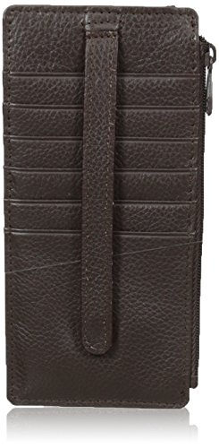(Buxton Hudson Pik-Me-Up Thin Card Holder, Chocolate Brown)