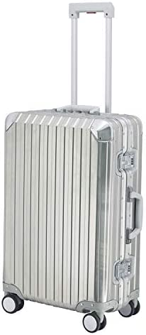 Kron Gen 2 100 Aluminum Magnesium Alloy Hard Shell Suitcase with Dual Blade Omni-Directional Spinner Wheels 24 Checked