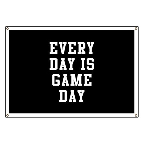 CafePress Every Day Is Game Day - Vinyl Banner, 44''x30'' Hanging Sign, Indoor/Outdoor by CafePress