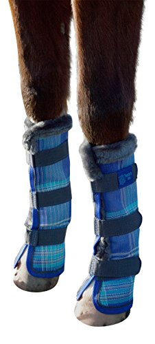 kensington-kpp-protective-fly-boots-blue-ice-plaid-horse