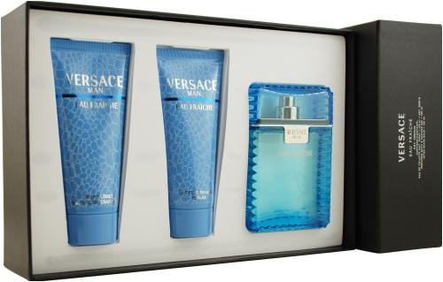 Gianni Versace Versace Man Eau Fraiche By Gianni Versace For Men. Set-edt Spray 3.3-Ounces & Aftershave Balm 3.3-Ounces & Shower Gel 3.3-Ounces by Versace