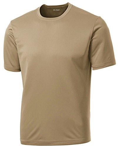 DRIEQUIP Men's Tall Short Sleeve Moisture Wicking Shirt,Sand-4XLT ()