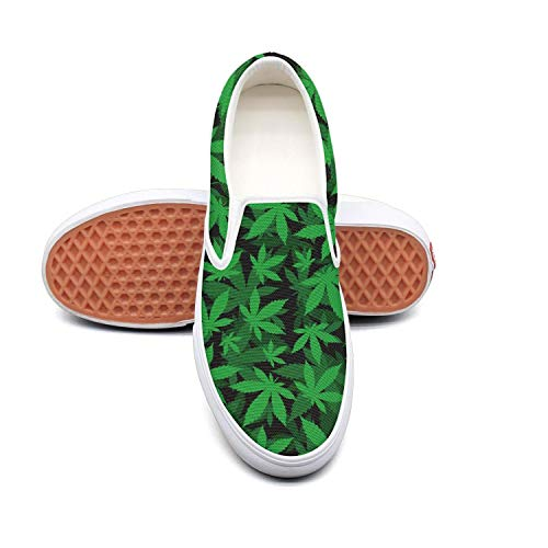 a2184158cfbc Lalige Cannabis Green Leaf Energy Women Fashion Fashion Fashion Canvas  Slip-ONS Travel Shoes B07GLPBH91 Parent 06f7a2