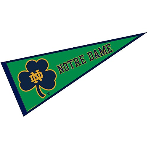 College Flags and Banners Co. Notre Dame Fighting Irish Pennant Full Size Felt