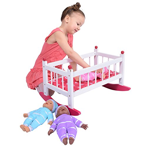 Wooden Baby Doll Rocking Cradle product image
