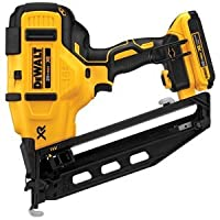 20V MAX 2.0 Ah Cordless Lithium-Ion 16 Gauge 2-1/2 in. 20 Degree Angled Finish Nailer Kit