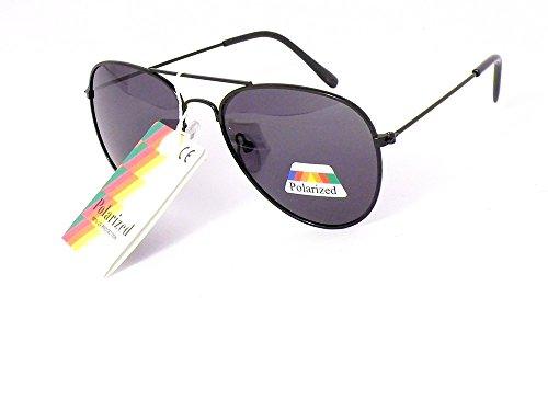 lunettes de soleil enfant polarisantes polarisées verres polarisés aviateur garçon fille 3 4 5 6 7 ans 203009 monture noire