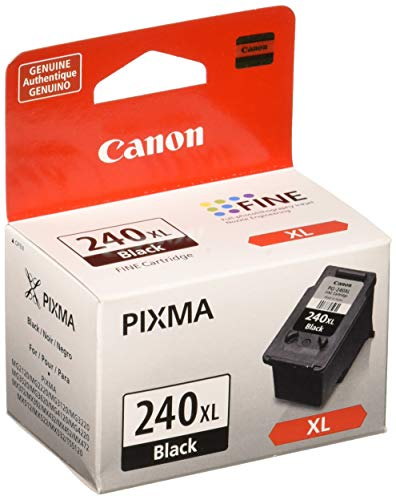 Canon PG-240XL Black Ink Cartridge, Compatible to MG3620, MG3520, MG4220,MG3220 and - Printer Compatible Black Inkjet Ink