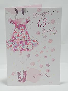 Daughter 13th Birthday Card Fashionista Design