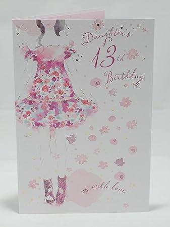 Daughter 13th Birthday Card Fashionista Design