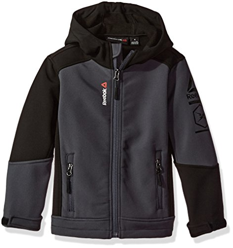 Reebok Toddler Boys' Active Outerwear Jacket (More Styles Available), Two Color Softshell Charcoal/Black, 2T