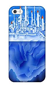 Durable Defender Case For Iphone 5/5s Tpu Cover(iceberg Reflection Palace Blue Water Digital)