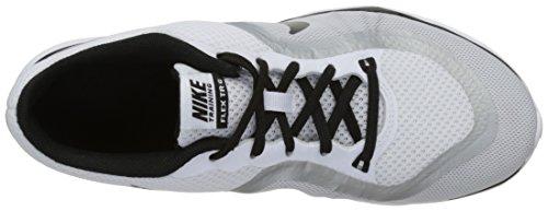 Nike Wmns Flex Trainer 6, Zapatillas Deportivas para Interior para Mujer Negro (White / Black / Metallic Platinum)
